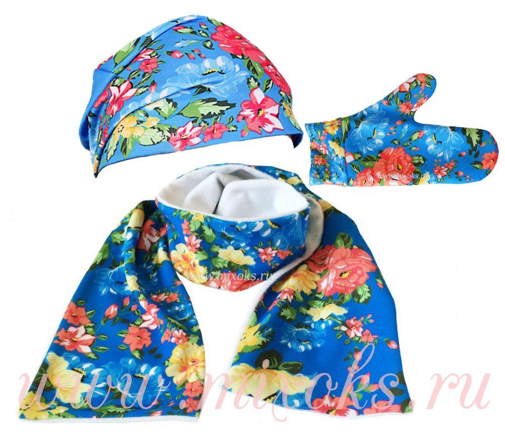 шапка шарф варежки русские