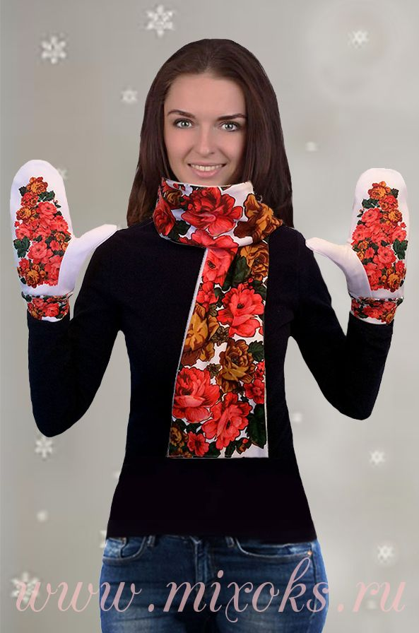 "Шарф ""Павловопосад"" белый"